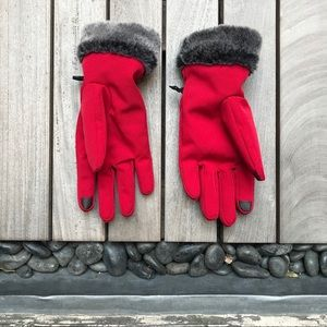 HEAD Red Weatherproof Attachable Winter Gloves